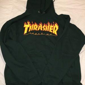 Green thrasher hoodie